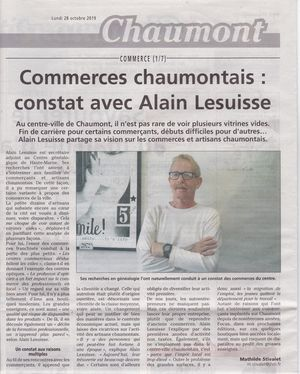 JHM Commerçants Chaumont 28 10 2019